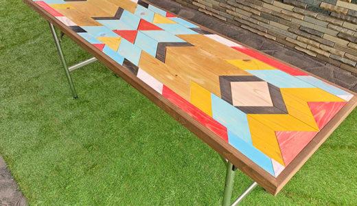 《終了しました》7月28日(日) ワークショップ「テーブル天板サイズで作るおしゃれなオルテガ柄DIY(リメイクにも!)」